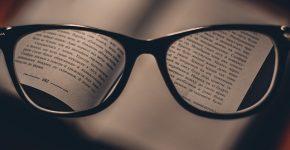 okulary korekcyjne do czytania w czarnych oprawkach